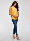 Топ вискозный с рубашечным воротником oodji #SECTION_NAME# (желтый), 14911009B/26346/5100N - вид 6