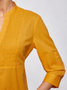 Туника хлопковая на пуговицах oodji для женщины (оранжевый), 21412068-3/12836/5500N