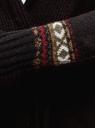 Кардиган вязаный с поясом oodji для женщины (черный), 63207184/32813/2949J