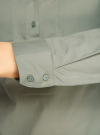 Рубашка базовая с нагрудными карманами oodji #SECTION_NAME# (зеленый), 11403222B/42468/6000N - вид 5