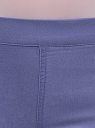 Джинсы-легинсы на эластичном поясе oodji для женщины (фиолетовый), 12104043-7B/46261/7501W