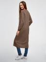 Кардиган удлиненный без застежки oodji для женщины (коричневый), 63212505B/18239/3900M