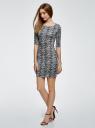 Платье трикотажное облегающее oodji #SECTION_NAME# (серый), 14001121-3B/16300/1029L - вид 6