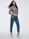 Рубашка в полоску с карманами oodji #SECTION_NAME# (синий), 13K03002-4B/46807/7910S - вид 6