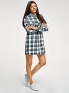 Платье-рубашка с карманами oodji #SECTION_NAME# (разноцветный), 11911004-2/45252/1279C - вид 6