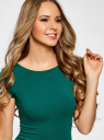 Платье миди с вырезом на спине oodji #SECTION_NAME# (зеленый), 24001104-5B/47420/6E00N - вид 4