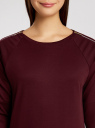 Платье трикотажное с декоративными молниями на плечах oodji #SECTION_NAME# (красный), 24007026/37809/4900N - вид 4
