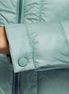 Куртка стеганая с круглым вырезом oodji для женщины (зеленый), 10203050-2B/47020/6C01N - вид 5