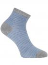 Носки укороченные базовые oodji для женщины (серый), 57102418B/47469/2070S