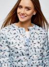 Куртка стеганая с круглым вырезом oodji для женщины (синий), 10204040-1B/42257/7019A - вид 4