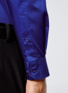 Рубашка базовая приталенная oodji #SECTION_NAME# (синий), 3B140000M/34146N/7500N - вид 5