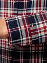 Рубашка принтованная хлопковая oodji #SECTION_NAME# (синий), 11406019/43593/7912C - вид 5