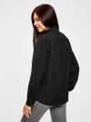 Блузка с погонами и нагрудными карманами oodji #SECTION_NAME# (черный), 21411064/42144/2900N - вид 3