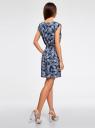 Платье вискозное без рукавов oodji #SECTION_NAME# (синий), 11910073B/26346/7930O - вид 3