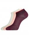 Комплект из трех пар носков oodji для женщины (разноцветный), 57102433-1T3/48022/6 - вид 2