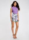 Блузка базовая без рукавов с воротником oodji #SECTION_NAME# (фиолетовый), 11411084B/43414/4C00N - вид 6