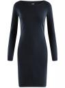 Платье трикотажное облегающего силуэта oodji #SECTION_NAME# (синий), 14001183B/46148/7900N