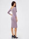 Платье облегающее с вырезом-лодочкой oodji #SECTION_NAME# (фиолетовый), 14017001-6B/47420/8000N - вид 3