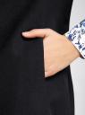 Жилет удлиненный с декоративными пуговицами oodji #SECTION_NAME# (черный), 22305001-3/46415/2900N - вид 5
