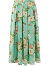 Юбка в складку из струящейся ткани oodji для женщины (бирюзовый), 23G00009B/17358/7341F