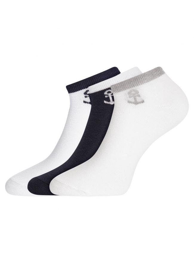 Комплект из трех пар укороченных носков oodji для женщины (разноцветный), 57102433T3/47469/30