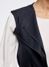 Жилет из струящейся ткани с поясом oodji #SECTION_NAME# (синий), 22305004/45094/7900N - вид 5