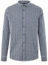 Рубашка в клетку с длинным рукавом oodji #SECTION_NAME# (синий), 3B110028M/39767N/7910C