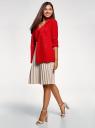 Жакет с накладными карманами и рукавом 3/4 oodji #SECTION_NAME# (красный), 21203109/46955/4500N - вид 6