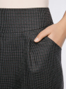 Юбка короткая с карманами oodji для женщины (серый), 11605056-2/22124/2539C
