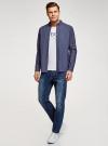 Рубашка принтованная с нагрудным карманом oodji для мужчины (синий), 3L320014M/49756N/7570D - вид 6