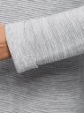 Кардиган удлиненный без застежки oodji #SECTION_NAME# (серый), 63207186-1/31347/2010M - вид 5