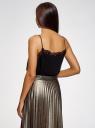 Топ в бельевом стиле с кружевной отделкой oodji для женщины (черный), 14911004-1B/45193/2900N