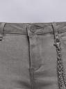 Джинсы skinny с молниями по низу oodji для женщины (серый), 12106143/46920/2300W