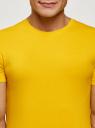 Футболка базовая приталенная oodji #SECTION_NAME# (желтый), 5B611004M/46737N/5200N - вид 4
