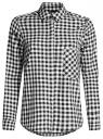 Рубашка свободного силуэта с регулировкой длины рукава oodji для женщины (черный), 11411099-1/43566/2912C