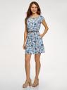 Платье вискозное без рукавов oodji #SECTION_NAME# (белый), 11910073B/26346/1270F - вид 6