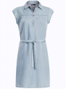 Платье-рубашка из лиоцелла oodji для женщины (синий), 22909022/42579/7000W