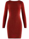 Платье обтягивающее из блестящей ткани oodji #SECTION_NAME# (красный), 14000165-1/46124/4500X