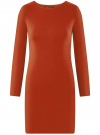 Платье базовое облегающего силуэта oodji #SECTION_NAME# (коричневый), 14011038B/38261/3100N