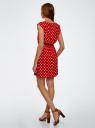 Платье принтованное из вискозы oodji #SECTION_NAME# (красный), 11910073-2/45470/4512D - вид 3