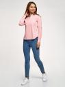 Рубашка базовая с нагрудными карманами oodji #SECTION_NAME# (розовый), 11403222B/42468/4010D - вид 6
