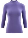 Водолазка хлопковая с рукавом 3/4 oodji #SECTION_NAME# (фиолетовый), 15E11007B/46147/7500N