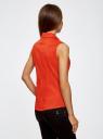 Рубашка базовая без рукавов oodji #SECTION_NAME# (красный), 11405063-6/45510/4500N - вид 3