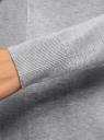 Кардиган вязаный без застежки oodji #SECTION_NAME# (серый), 73212375-1/45511/2000M - вид 5