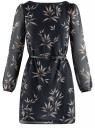 Платье из шифона с ремнем oodji для женщины (синий), 11900150-5/13632/7923O