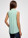 Топ вискозный с рубашечным воротником oodji для женщины (зеленый), 14911009B/26346/6502N