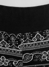 Легинсы трикотажные с широким поясом oodji #SECTION_NAME# (черный), 18700061/47618/2930E - вид 4