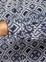 Блузка принтованная из вискозы oodji для женщины (синий), 11411087/43606/7912E