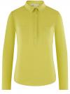 Рубашка базовая с нагрудными карманами oodji #SECTION_NAME# (зеленый), 11403222B/42468/6A01N