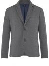 Пиджак трикотажный приталенный oodji #SECTION_NAME# (синий), 5L912048M/49782N/7900O